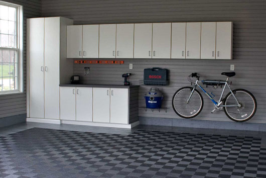 Picture. Custom garage storage system designs  Cabinet systems  shelving